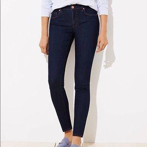 LOFT High Waist Curvy Skinny Ankle Denim Jeans